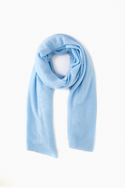 seabreeze blue cashmere travel wrap