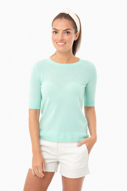 agave heather essential cashmere tee