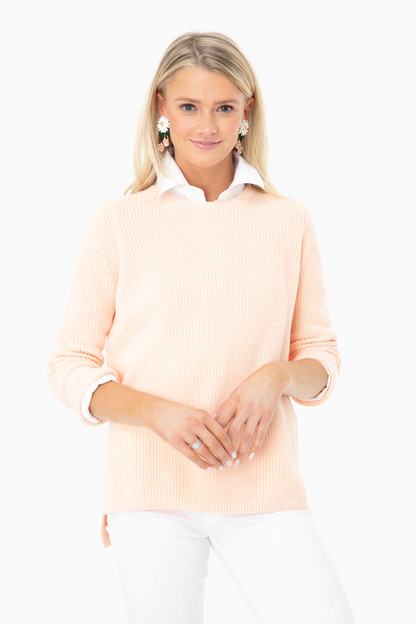 candy peach emma shaker sweater