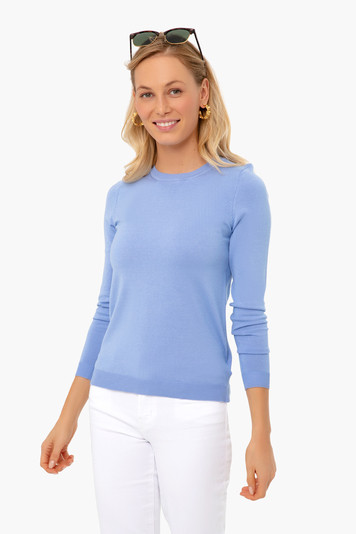 whisper blue carolina crewneck sweater
