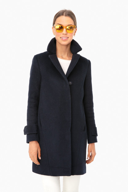 Navy Mongolian Remy Coat