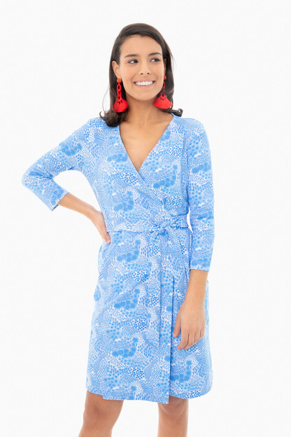 shallow blue wildflower louise dress