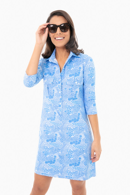 shallow blue wildflower winpenny dress
