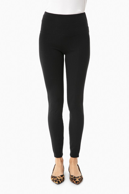 black signature center seam ponte leggings