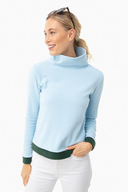 ice blue colorblock park slope turtleneck