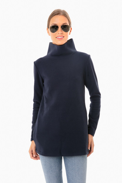 navy cobble hill turtleneck