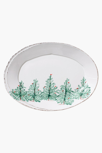holiday small oval platter