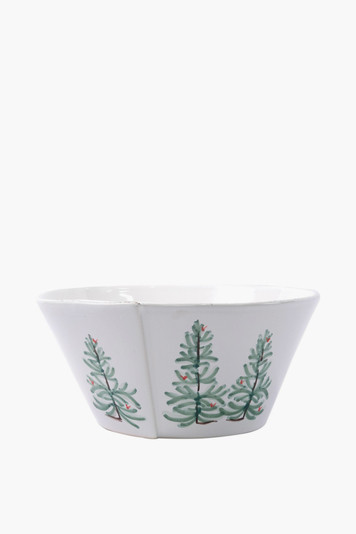 holiday large shallow serving bowl
