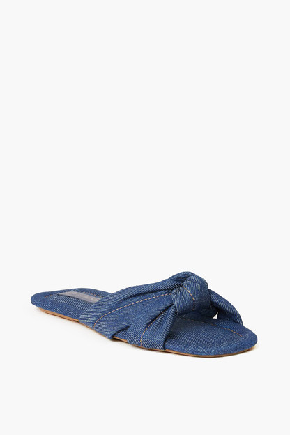 denim polly puffy knot sandal