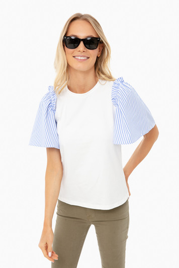 blue stripe mollie blouse