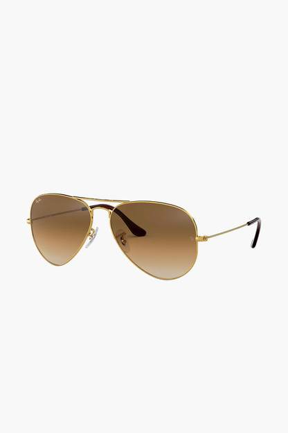 brown gradient polarized aviator sunglasses