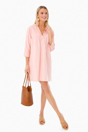 peach fallon dress