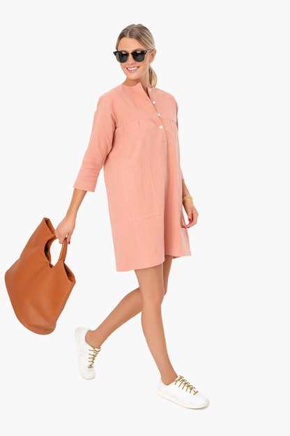 salmon fallon dress