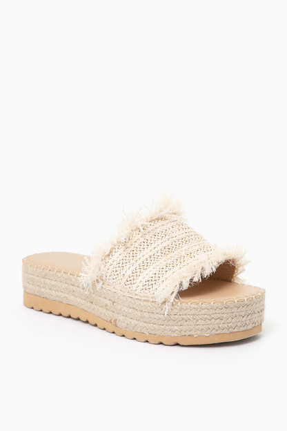 natural seashell raffia sandals