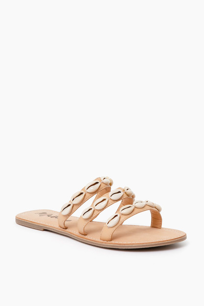 tan resort shell sandals