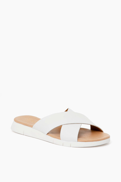 white heritage sandals