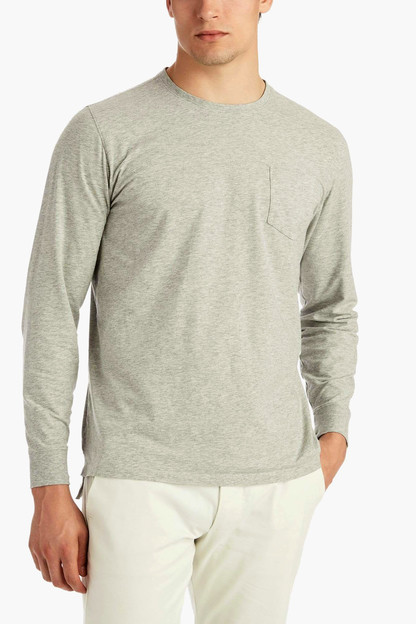 gray heather willie crewneck tee