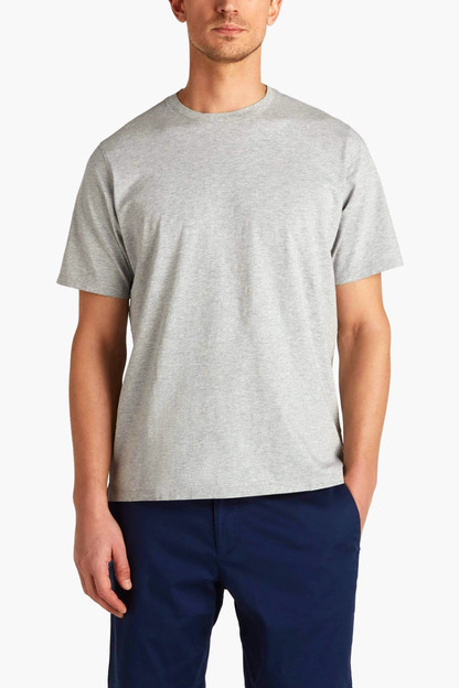 gray heather dewey pocket tee
