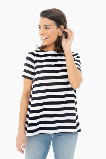 navy wide stripe claude stripe tee