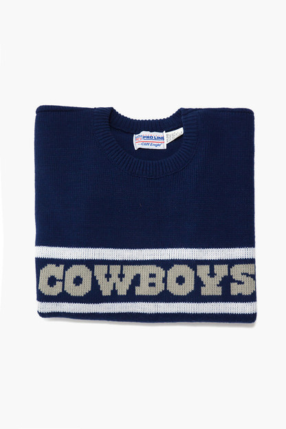 blue cowboys sweater