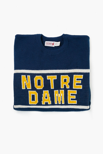 blue notre dame sweater