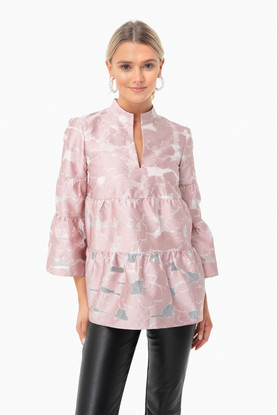 blush jacquard edith blouse