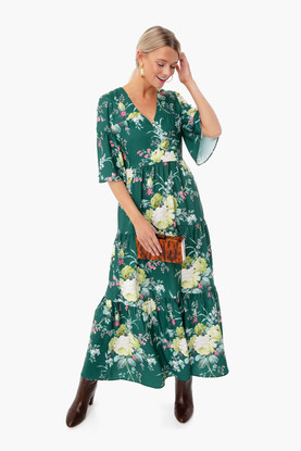 green floral ginger dress