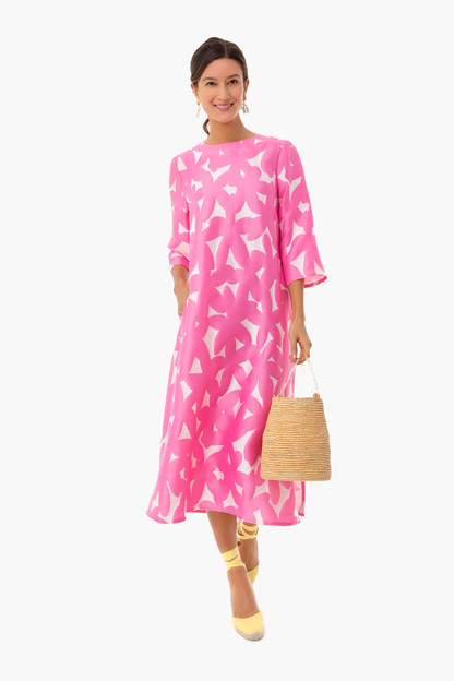 Pink Italian Floral Jamie Dress Take 20% off with code RINGRING