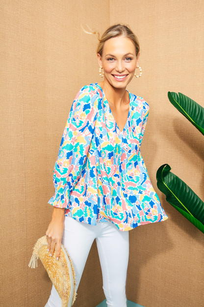 cabana easton silk blouse