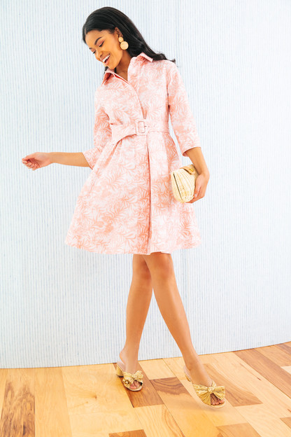 pink embroidered floral porcelain dress