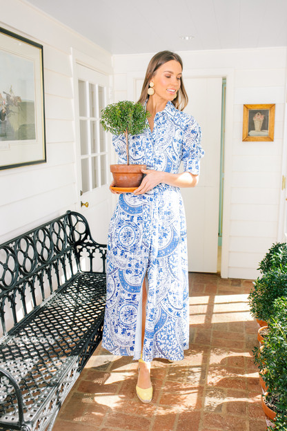 China Blue Porcelain Dress