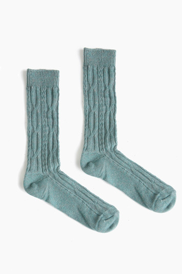 mineral cable crew socks