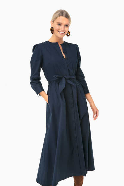 navy poplin catherine dress