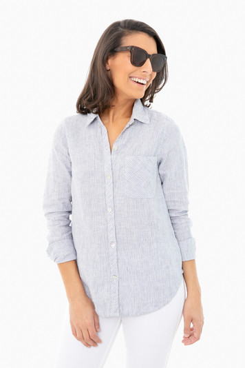 blue mini stripe del mar shirt