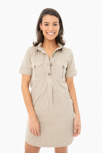 khaki monica dress