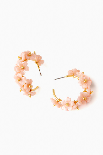 Pink Farrow Hoop Earrings