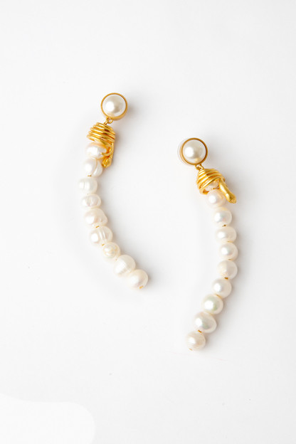 serpent and pearl earrings