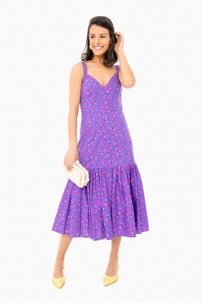 confetti cerulean calle dress
