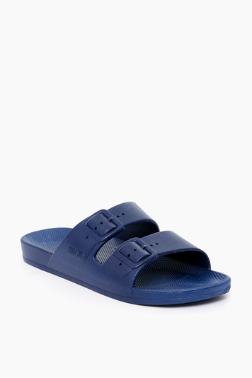 navy moses sandal
