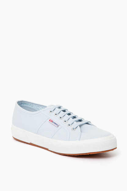 Light Blue Cotu Canvas Sneakers