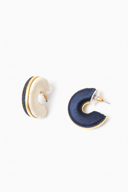 Navy Twin Palm Hoops