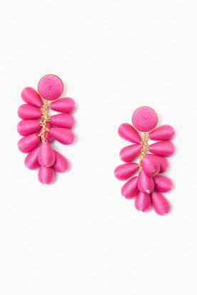 bright pink cabana earrings