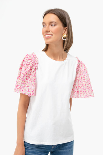 pink floral sleeve mollie blouse