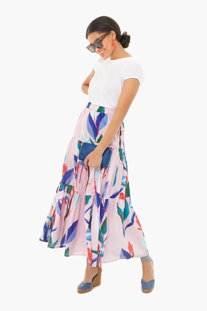 botanica tiered maxi skirt