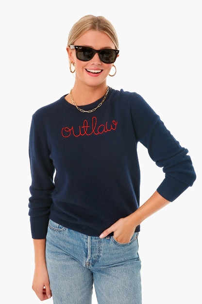 navy outlaw cashmere sweater
