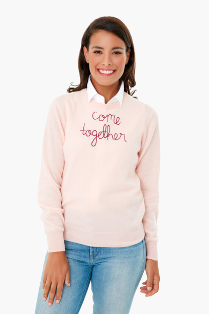 peony come together cashmere sweater
