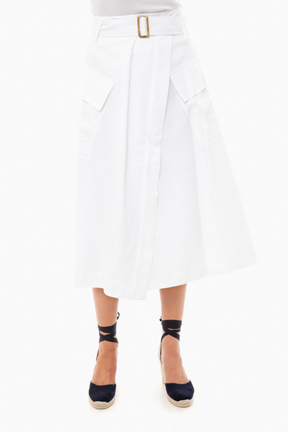 optic white utility skirt