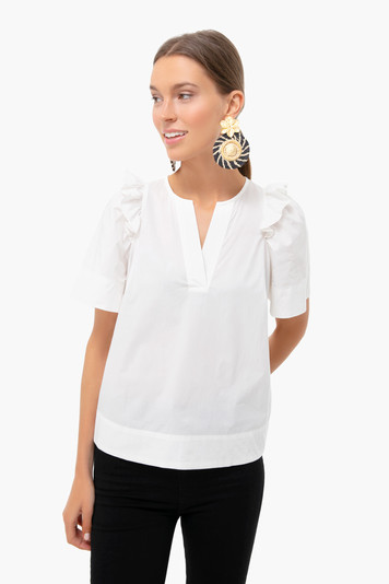 white tabitha ruffle top