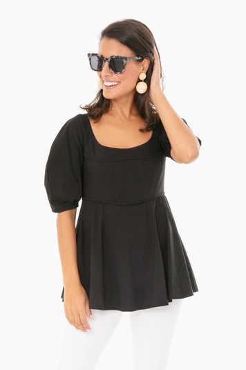 black nealy blouse
