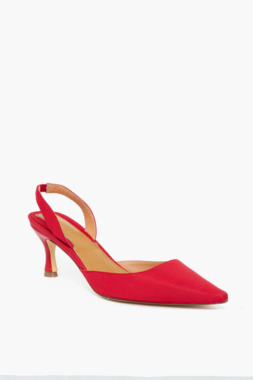 red epoch slingback heels
